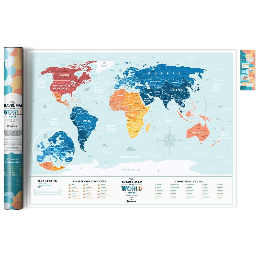 Карта travel map holiday lagoon world 1DEA.me